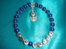 YOUR FAVOURITE SPORTS STAR PEARL BRACELET - TENNIS / FOOTBALL (VARIOUS COLOURS)