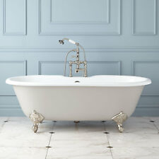 """66"""" Sanford Cast Iron Clawfoot Light Gray Tub with Imperial Feet"""