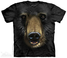 Black Bear Face T-Shirt from The Mountain-Adult S - 5X & Child S - XL