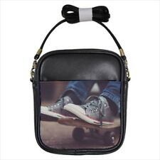 Skateboarder Leather Sling Bag & Women's Handbag
