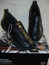 """*NEW DICKIE'S BLK """"MEXAM"""" 12M STYLE NURSING/OCCUP. MENS LEATHER~SLIP RESISTANT"""