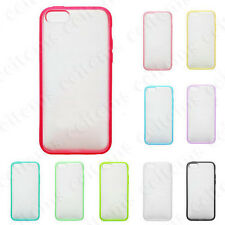 TPU Bumper Frame With Matte Clear Hard Back Cover for 5S 2 FREE Screen P