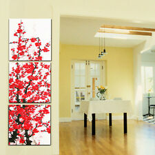 HD Canvas Print home decor wall art painting,Abstract Red Plum (Unframed) 3PCS