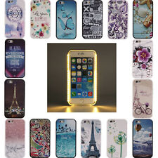 For Apple iPhone LED Light up Luminous Phone Protective Back Cover Hard PC Case