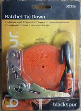 RATCHET STRAP TIE DOWN SET ROOF RACK CARGO TRAILER MARQUEE 4' to 15'