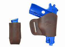 NEW Barsony Brown Leather Yaqui Holster+Mag Pouch Kel-Tec Taurus Sccy UltraComp