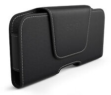 Black Leather Horizontal Holster Belt Clip Loop Pouch Case for iPhone 7 6S Plus