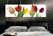 Original Oil Painting HD Print Wall Decor Art on Canvas, FLOWER 3PCS (Unframed)