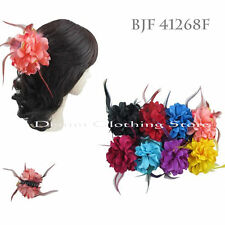 6pcs Flower Flowra Jaw Hair Clip Claw Double Sided Style Petals Feathers Lots