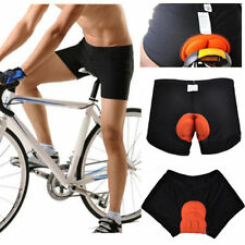 Black Mens Bicycle Cycling Bike Short Underwear Pants Gel 3D Padded Coolmax New