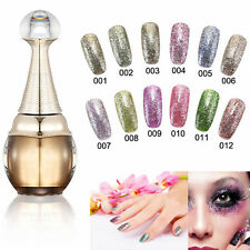 Nail Art Bling 15ml Gel Polish Soak Off LED UV Lamp Color Gelpolish Glitter Tool