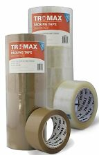 "36 Rolls 2"" X 110YDS CLEAR/TAN BOPP QUALITY 2.0 MIL- PACKING CARTON SEALING TAPE"