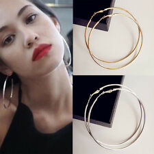 Vogue Big Hoop Earrings 18K Gold /Silver Plated Fashion Jewelry For Women tang