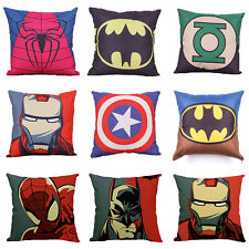 "Super Hero Avengers Square Cushion Cover Pillow Case Home Bedroom Decor 18"" New"