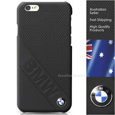 BMW Real leather perforated Hard Case Back Cover protective Cover Apple iPhone