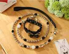 Dog Leash Chain Dogs Lead Traction Collar Walking Pets Bling Beading Supplies