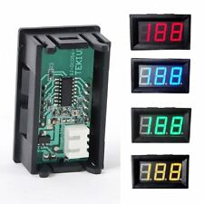 Hot DC 0-30V LED 2 Wire Digital Display Voltage Voltmeter Panel Motor Multicolor