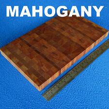 SMALL END GRAIN KITCHEN CUTTING CHOPPING BOARD BUTCHER BLOCK MAHOGANY ECO WOOD