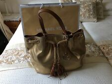 New Michael Kors Marina Tote Bag In Gold and Brown