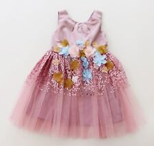 Pink Sequin Party Dress Girls Ex-Monsoon - 2-7 Years