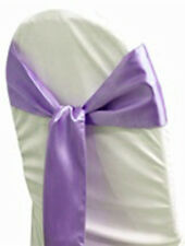 LOT OF Lavender Satin Chair Sash Bow Band Wedding Banquet Decoration....FREE S&H
