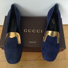 GUCCI SUEDE SHOES LOAFERS MOCCASINS BNIB SIZE 36.5