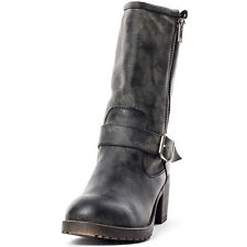 Rocket Dog Mid Boot Stripe Galaxy Womens Boots Black New Shoes