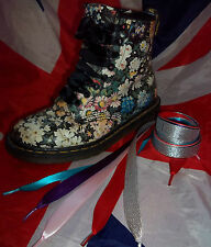 Coloured Ribbon Shoe Laces*Custom Customised Dr Martens Converse*Bling*Festival