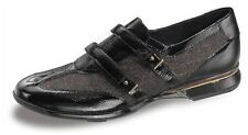 CLEARANCE Women's Aetrex/Apex EE80 Anna Essence Leather Double Strap Shoes Black