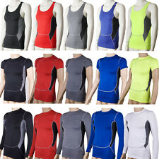 Men Gym Compression Base Layer Tank Top T-Shirt Vest Thermal Fitness Sport Shirt