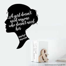 Marilyn Monroe Quotes Girl Wall Decals Marilyn Monroe Popular Wall Decals