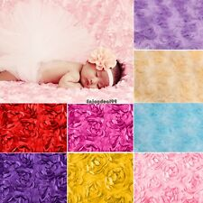 New Soft Newborn Baby Faux Fur Basket Blanket Photography Photo Prop OO55