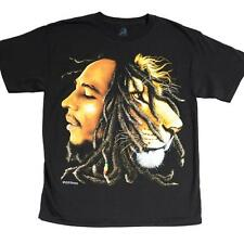 BOB MARLEY PROFILES RASTA REGGAE 100% OFFICIALLY LICENSED ZION ROOTSWEAR T-SHIRT