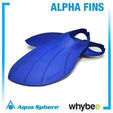 AQUA SPHERE ALPHA FINS SWIMMING FINS - SWIM TRAINING FINS Blue Various Sizes
