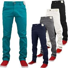NEW MENS STRETCH JEANS SLIM FIT CHINO STRAIGHT LEG CHINO TROUSERS PANTS