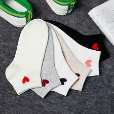 1 Pair Summer Womens Girl Cute Heart Ankle Crew Women Socks Cotton Low Cut Socks
