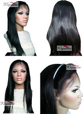 Best Lace Front Wigs Human Hair Indian Glueless Remy Hair Silky Straight 8-24""