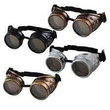 Cyber Goggles Steampunk Glasses Vintage Welding Punk Gothic Victorian LOT SQ