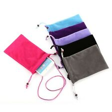 Soft Velvet Neck Strap Sleeve Case Skin Cover Pouch Bag For Cell Phone Mobile