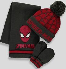 MARVEL SPIDERMAN: WINTER SET,GLOVES/SCARF/HAT,2/4,3/6,7/10YR,NEW WITH TAGS