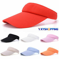 Unisex Men Women Outdoor Sun Visor Sport Golf Tennis Headband Cap Adjustable Hat