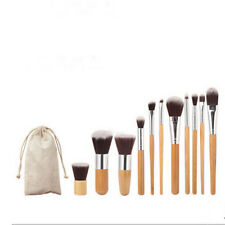 Fine 11pcs Antibacterial Fiber Bamboo Handle High Light Brush Makeup Brush Sets