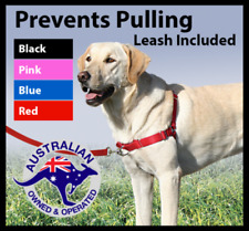 Front Tether dog harness Non Pull Training Walk Easy Gentle Lead Red Pink Blue
