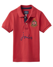 Joules Junior Harry Boys Pique Polo Shirt - Red