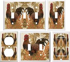 COUNTRY ROOSTER KITCHEN DECOR LIGHT SWITCH COVER PLATE OR OUTLET V847