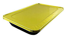 Handi-Foil Full-Size Deep Premium Black & Gold Aluminum Steam Table Pan w/Lid