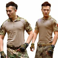 Men Army Combat Military Tactical Camouflage Short Sleeve T-Shirt Tops Shirt Tee