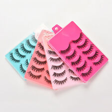 5 Pairs Hot Makeup Handmade Natural Thick False Eyelashes Eye Lashes Extension