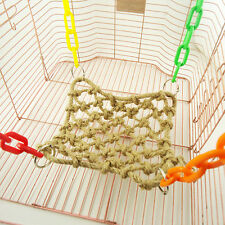New Pet Bird Parrot Parakeet Budgie Cage Rope Net Hammock Swing Toys Hanging Toy