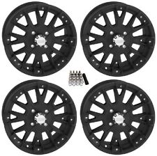 "QuadBoss SCOVILLE BOSS UTV Wheels/Rims Black 14"" (5+2) Polaris RZR 1000 XP (4)"